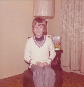 the author on his 9th birthday in an ugly outfit