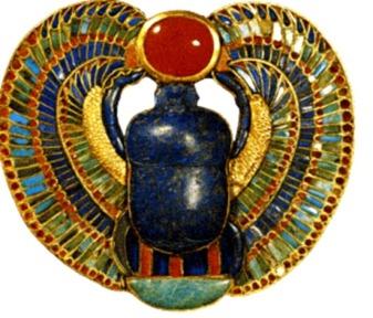Egyptian scarab decoration