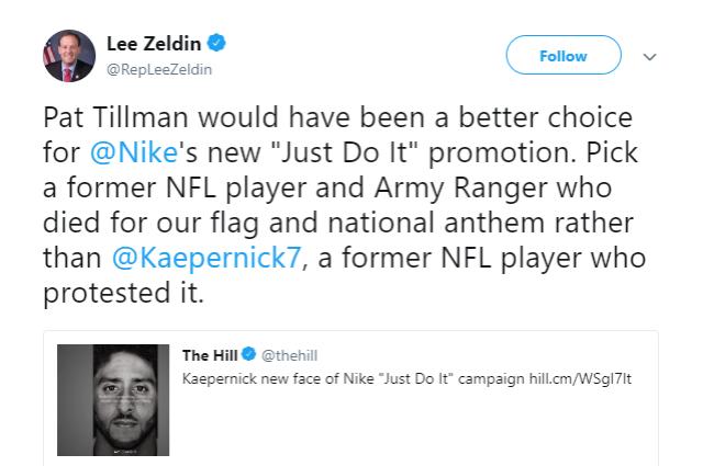 Tweet from Lee Zeldin