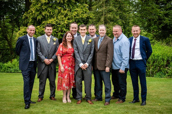 Dillons, Davorens, and Laytons at reception