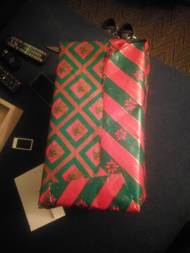 Ugly wrapping job using different gift papers