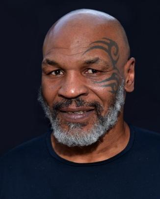 grey-bearded Mike Tyson