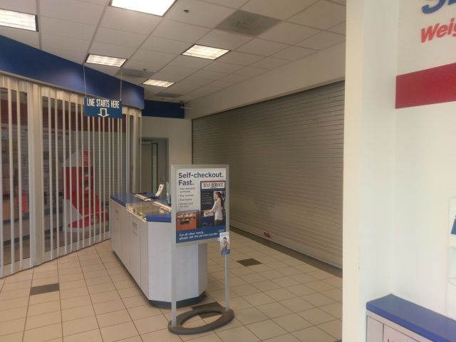 lobby of closed post office