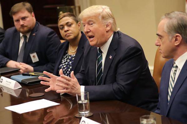 Verna Jones attending meeting with Donald Trump