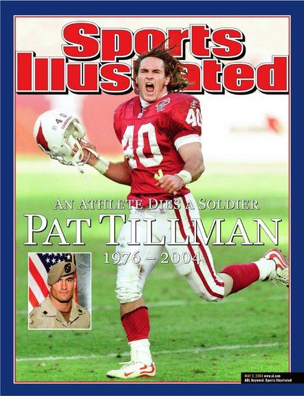 Pat Tillman on the cover of Sports Illustrated after his death