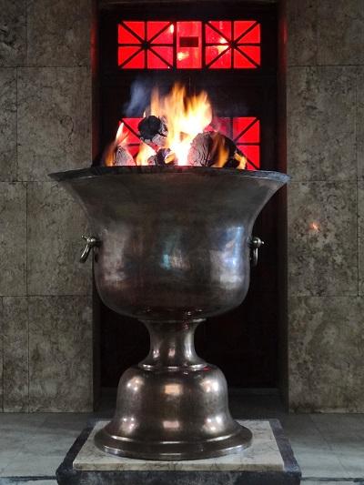 Vessel in a fire temple