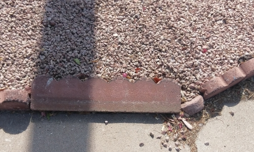 decorative curbing knocked over