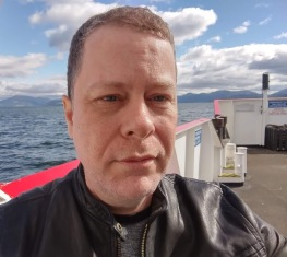 The author on the Dunoon ferry