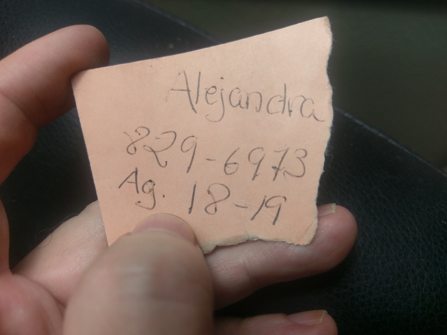 Alejandra's phone number