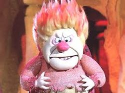 The Heat Miser from Rudolph the Red Nosed Reindeer