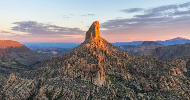 Weaver's Needle in Arizona's Superstition Mountains