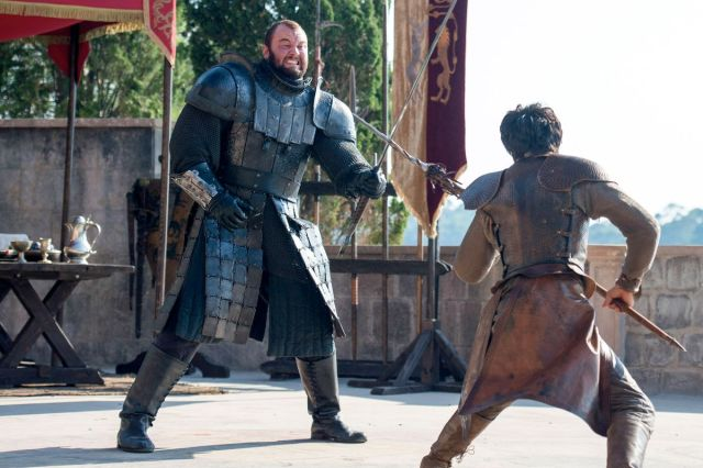 The Mountain from Game of Thrones fighting Oberyn