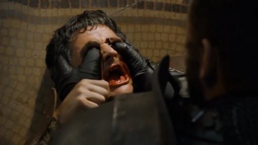 The Mountain crushing Oberyn's head.