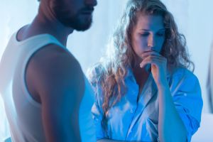 Couple in troubled relationship