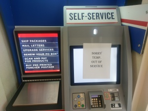self service postage machine out of order