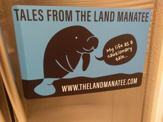 land manatee car magnet