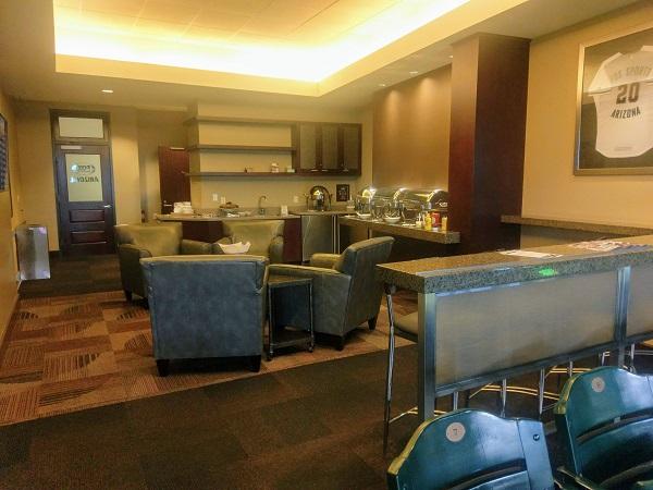 buffet at an Arizona Diamondbacks suite